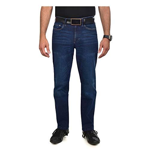 (Izod Men's Comfort Stretch Straight Fit Jeans (36W X 32L, Sidecar Blue))