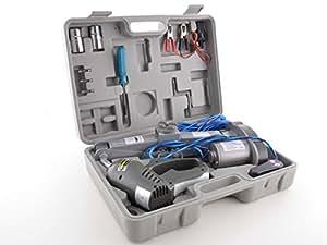 FK Automotive FKTO010019 - Gato y atornillador de impacto eléctrico (12V), color gris