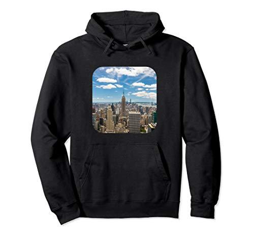 Empire State Bulding New York Skyline Hoodie Pullover ()
