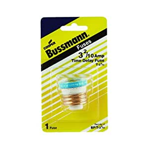 Bussmann T-25BC 25 Amp Type T Time-Delay Dual-Element Edison Base Plug Fuse. 125V UL Listed 1-In Bag