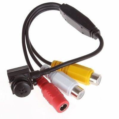lscommerce® Mini Micro cámara Camera Cam espía Spy a colores Audio Micrófono Tornillo
