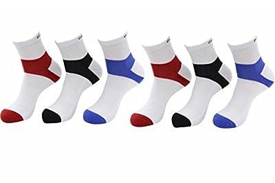 Calvin Klein Men's Ankle Socks, Shoe Size 7-12, White, (Pack of 6)