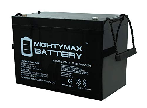 Mighty Max Battery 12V 100AH Battery for Solar Wind DEEP Cycle VRLA 12V 24V 48V Brand Product (Best Of Stereo Nation)