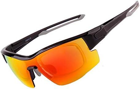 CDKET 屋外用乗馬メガネ、近視用偏光サングラス、マウンテンバイク、オートバイ、自転車、防風スポーツミラー CDKET