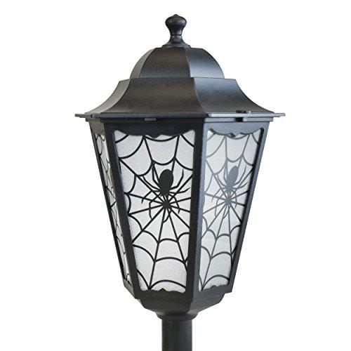 4 foot Lighted Lamp Post Halloween Party Decoration Indoor Outdoor Spider Prop