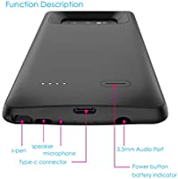 Forhouse Funda Batería Samsung Galaxy Note 9, 5000mAh Funda de Carga Protectora de Cargador Externo Recargable Ultra Delgado con Indicador de ...