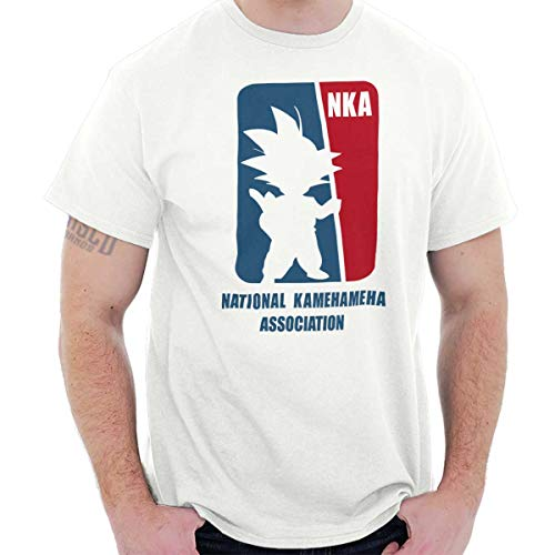 Association Dark T-shirt - National Goku Association Nerdy Basketball T Shirt Tee White