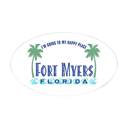 CafePress - Ft. Myers Happy Place - Oval Sticker - Oval Bumper Sticker, Euro Oval Car - City Myer Melbourne