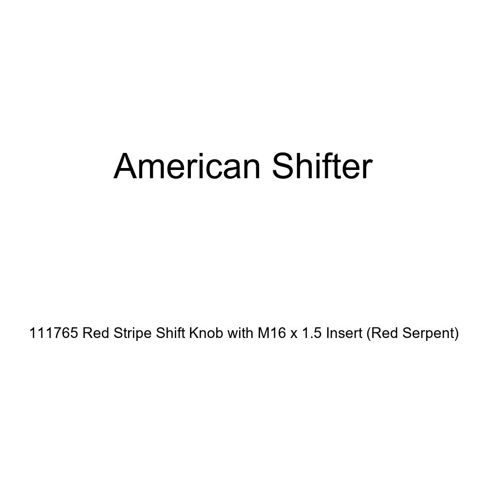 American Shifter 111765 Red Stripe Shift Knob with M16 x 1.5 Insert Red Serpent