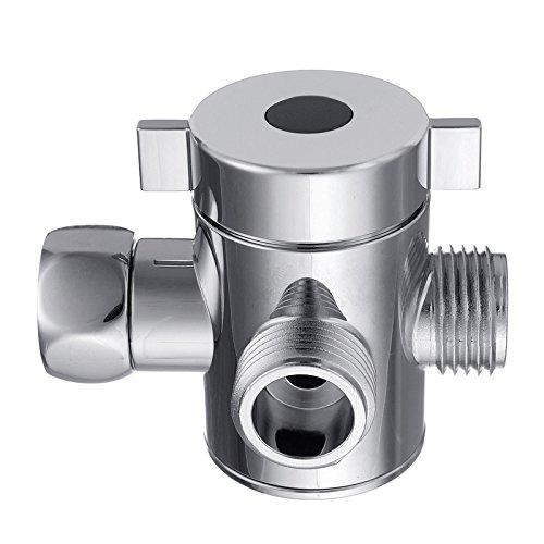3 Way Tee Connector Shower Head Diverter Valve G1/2