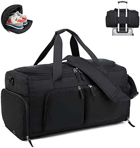 dbceddca2b50 Lightweight Travel Duffle Bag Sport Gym Bag with Shoe Compartment Overnight  Carry-on Tote (