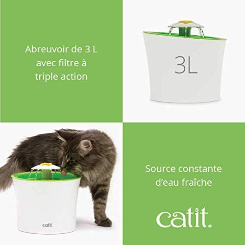 Catit Fontaine à Fleur pour chat, Senses 2.0