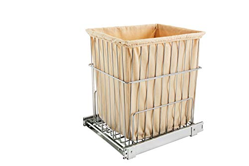 Rev-A-Shelf Pullout Wire Hamper Chrome