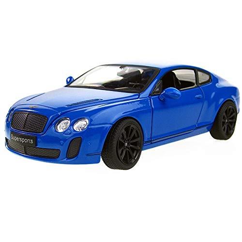 Bentley Bath Lighting - Kikioo Alloy Car Convertible Hardcover Version Toy Car 1/24 Sports Car Continental Model Simulation Car Flashing Light Dasher Drifting Stunt Vehicle Boy Gift Home Decoration Ornaments (Color : Blue)
