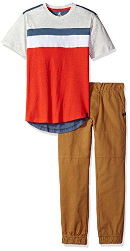 Beverly Hills Polo Club Boys Short Sleeve Top /& Twill Pant Set