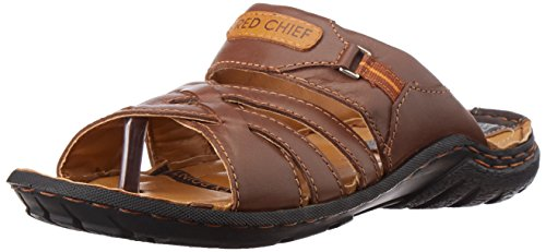 Redchief Mens  Dark Brown Leather Sandals and Floaters - 7 UK  (RC0380 095)