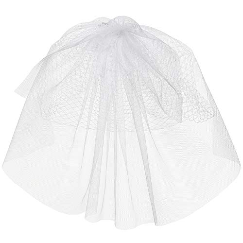 Ayliss Women Mesh Veils Bridal Birdcage Veil Short Wedding Face Veil with Clip - Veils Bridal Birdcage