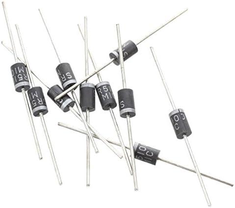 TOOGOO 10 Stueck 100V 5A Kleines Signal Schottky Gleichrichter Dioden