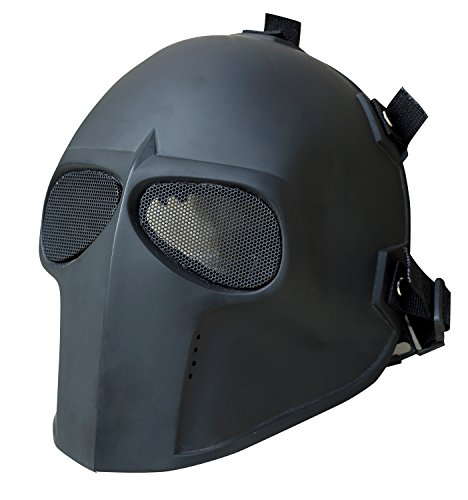 [Invader King FLAT BLACK Airsoft Mask Army of Two Protective Gear Outdoor Sport Fancy Party Ghost Masks Bb] (Punisher Costume Homemade)
