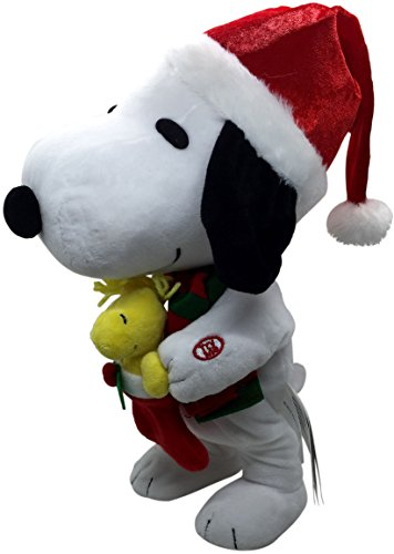 Animated Christmas Toys : Peanuts animated musical dancing snoopy woodstock