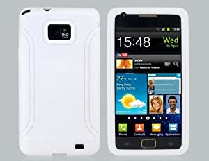 Anti-Slip Silicone Protective Case for Samsung I9100 Galaxy S II (White) + Worldwide free shiping