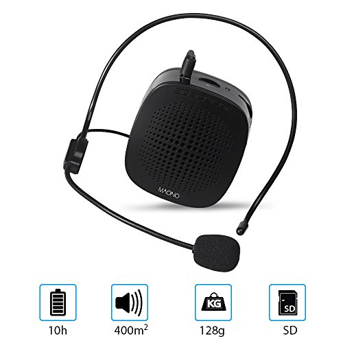 Voice Amplifier, Mini Rechargeable PA system with multifunction, Supports MP3 Format Audio and SD Card good for Teaching, Speech, Conference, Church, Promotion, Business
