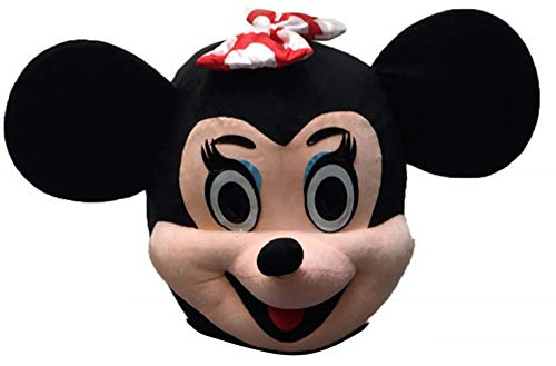 Adult Mascot Costume Parts Accessories for Minnie Mouse Cosplay Character (Head) Black -