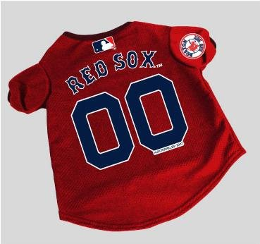 Officially Licensed by MLB - Boston Red Sox Dog Baseball Jersey - Medium - Officially Licensed Dog Baseball Jersey