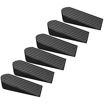 6 Pack Door Stopper Rubber Stop Floor Wedge Holder Doorstop, Premium Quality Heavy Duty for Home and Office