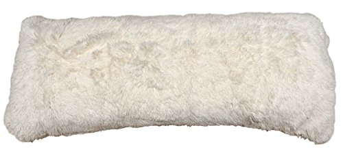 Brilliant Home Design Luxurious Faux Fur Body Pillow Cover with Long Hair, Removable with Sturdy Zipper Closure, Ultra Soft, Fit up to 20 X 54 Body Pillow (Multiple Colors Available) (Design Pillow Cover)