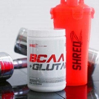 SHREDZ BCAA Glutamine Workout Recovery, Enhance Mood, Boost Energy 13.23 oz 375g