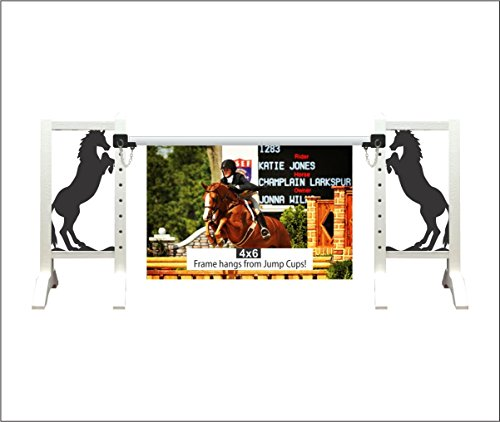 Model Horse Jumps Picture Frame (Black Stallion Frame) (Photo Jumping Horse)