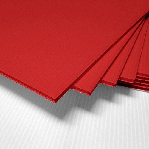 fantastic displays 18 x 24 blank corrugated plastic sheets coroplast red 25 sheet bundle. Black Bedroom Furniture Sets. Home Design Ideas