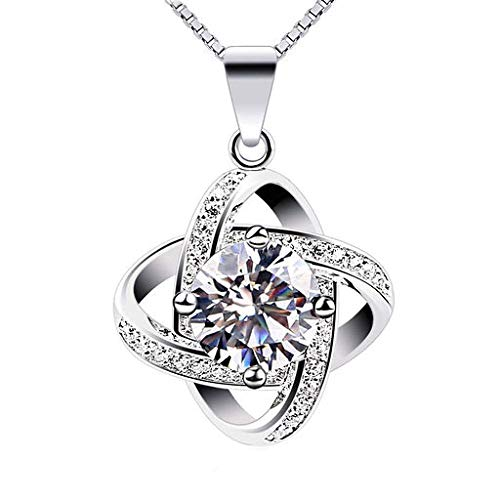 Christmas Best Gift!!!Kacowpper Fashion Jewelry Charm Silver Plated Pendant Hollow Necklace Elegant Retro