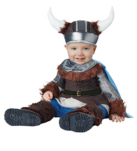 (California Costumes Baby Boys' Lil' Viking Infant, Brown/Silver, 12 to 18)