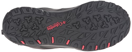 Columbia Fire Venture Low Waterproof, Zapatillas de Deporte Exterior para Mujer Negro (Black, Burnt Henna 010Black, Burnt Henna 010)