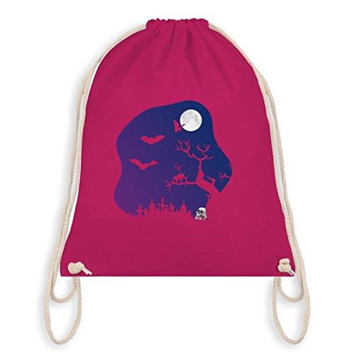 Shirtracer Halloween - Friedhof gruselig Totenkopf Mond - Turnbeutel I Gym Bag Fuchsia jGwR1