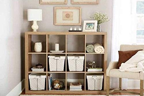 Better Homes and Gardens.. Bookshelf Square Storage Cabinet 4-Cube Organizer Weathered White, 4-Cube Weathered, 12-Cube