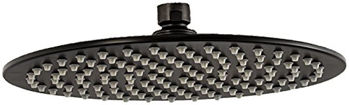 - 10 inch Modern Round Rain Style Showerhead with 126 Jets- Oil Rubbed Bronze