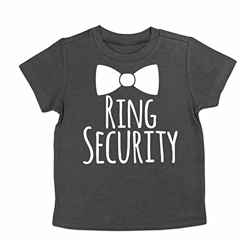 Oliver and Olivia Apparel Ring Security Shirt Ring Bearer Shirt Ring Bearer Gift (Charcoal, Youth Small 6-8)