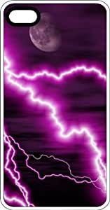 Purple Lighting Strike Grounded To The Ground White Plastic Case for Apple iPhone 6 by Maris's Diary
