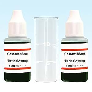 El agua de dureza de medición °dH Doppellpackung de dureza de medición de cubiertos