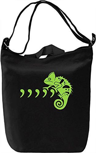 Comma Chameleon Borsa Giornaliera Canvas Canvas Day Bag| 100% Premium Cotton Canvas| DTG Printing|