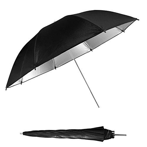 WAAO 33'' Black&Silver Video Reflector Umbrella for Photography Studio Flash Light by WAAO