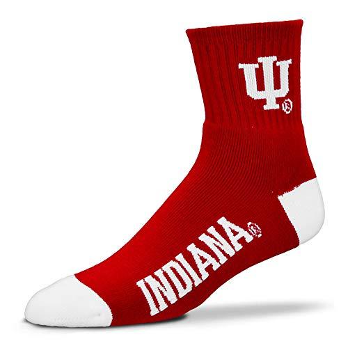 NCAA Indiana Hoosiers Team Quarter Socks, Large
