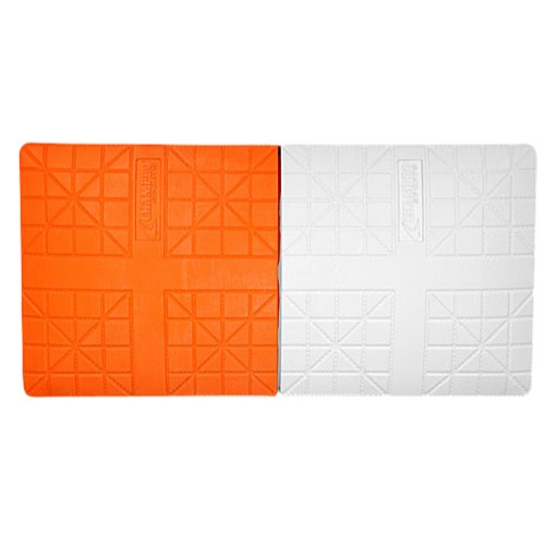 Champro Double First Base, In-Ground (Orange/White)