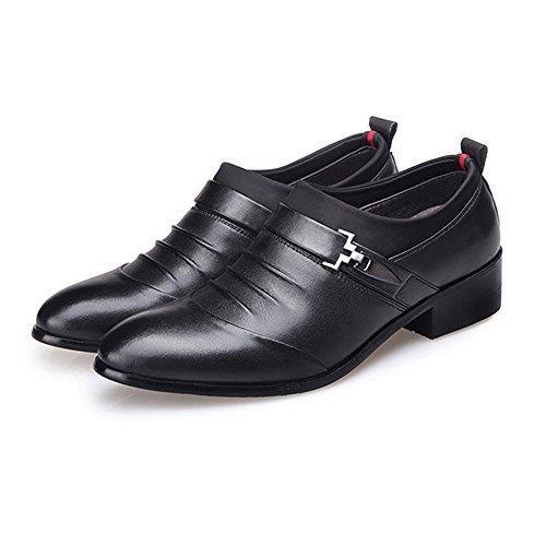 uomo Nero Dimensione Pelle in EU 40 shoes 2018 Fodera superiore Matte Scarpe da Color da Uomo Jiuyue pelle lavoro traspirante Matte Scarpe Nero PU CYqHRT