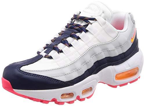 Nike Women's Air Max 95 Midnight Navy/Laser Orange 307960-405 (Size: 6.5) (Nike Air Max 95 Women)