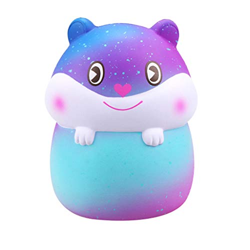 Dianli Mini Adorable Blue Pink Hamster Slow Rising Kids Fun Toy Stress Reliever Eco-Friendly Materials Medium Size Toy Gift Super Soft -