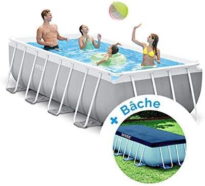 Pack piscina tubular Intex Prism Frame 4,00 x 2,00 x 1,00 m + lona ...